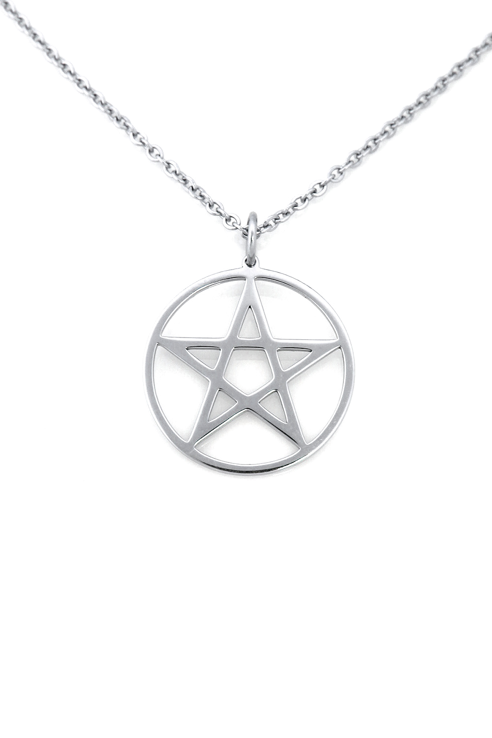 [SYMPHONYOFSYMBOLS] UPRIGHT PENTAGRAM NECKLACE